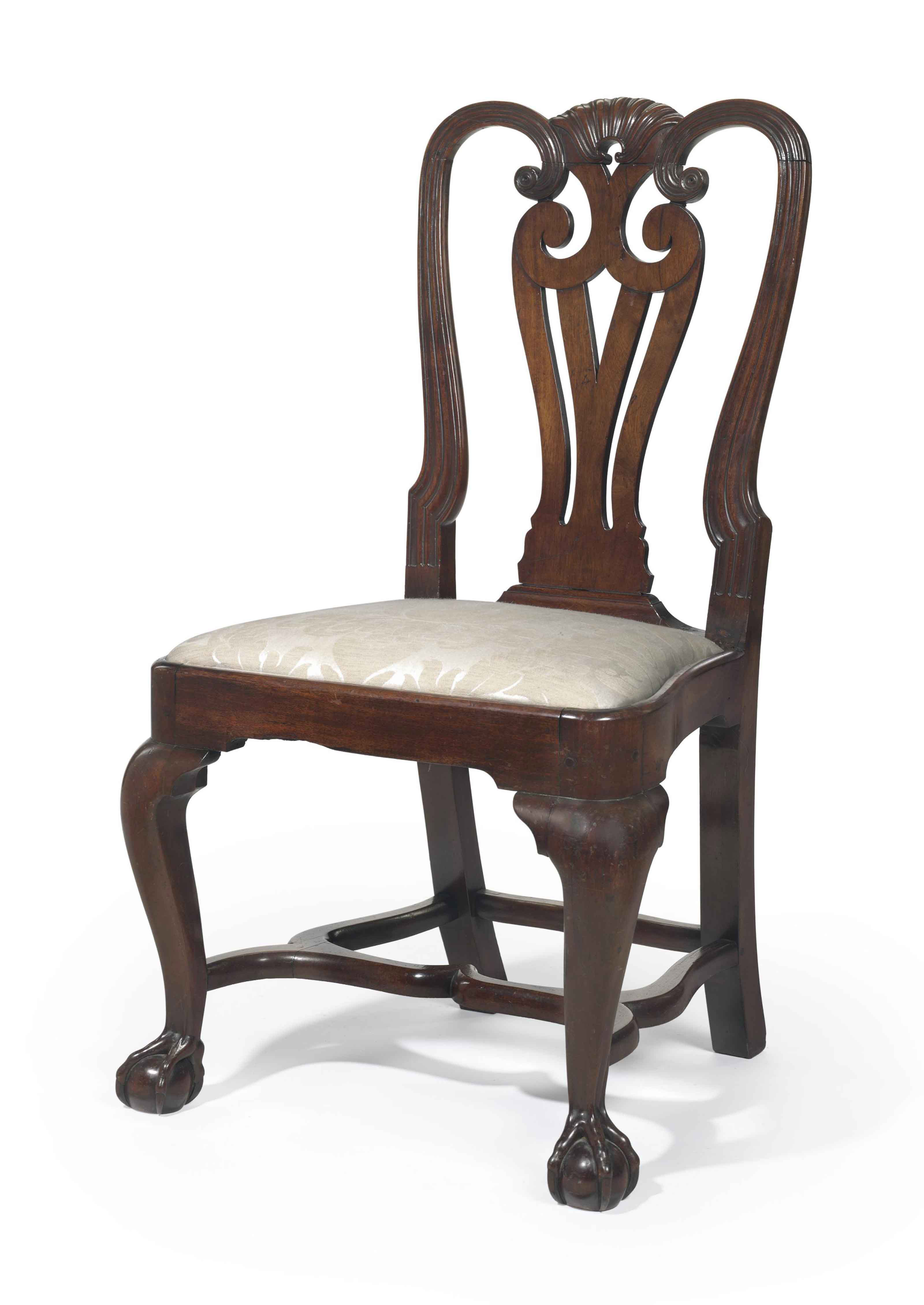 THE NICHOLAS BROWN CHIPPENDALE CARVED MAHOGANY SIDE CHAIR