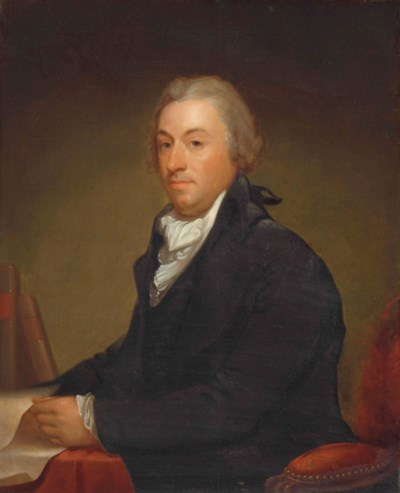 Attributed To Gilbert Stuart 1755 1828 Portrait Of