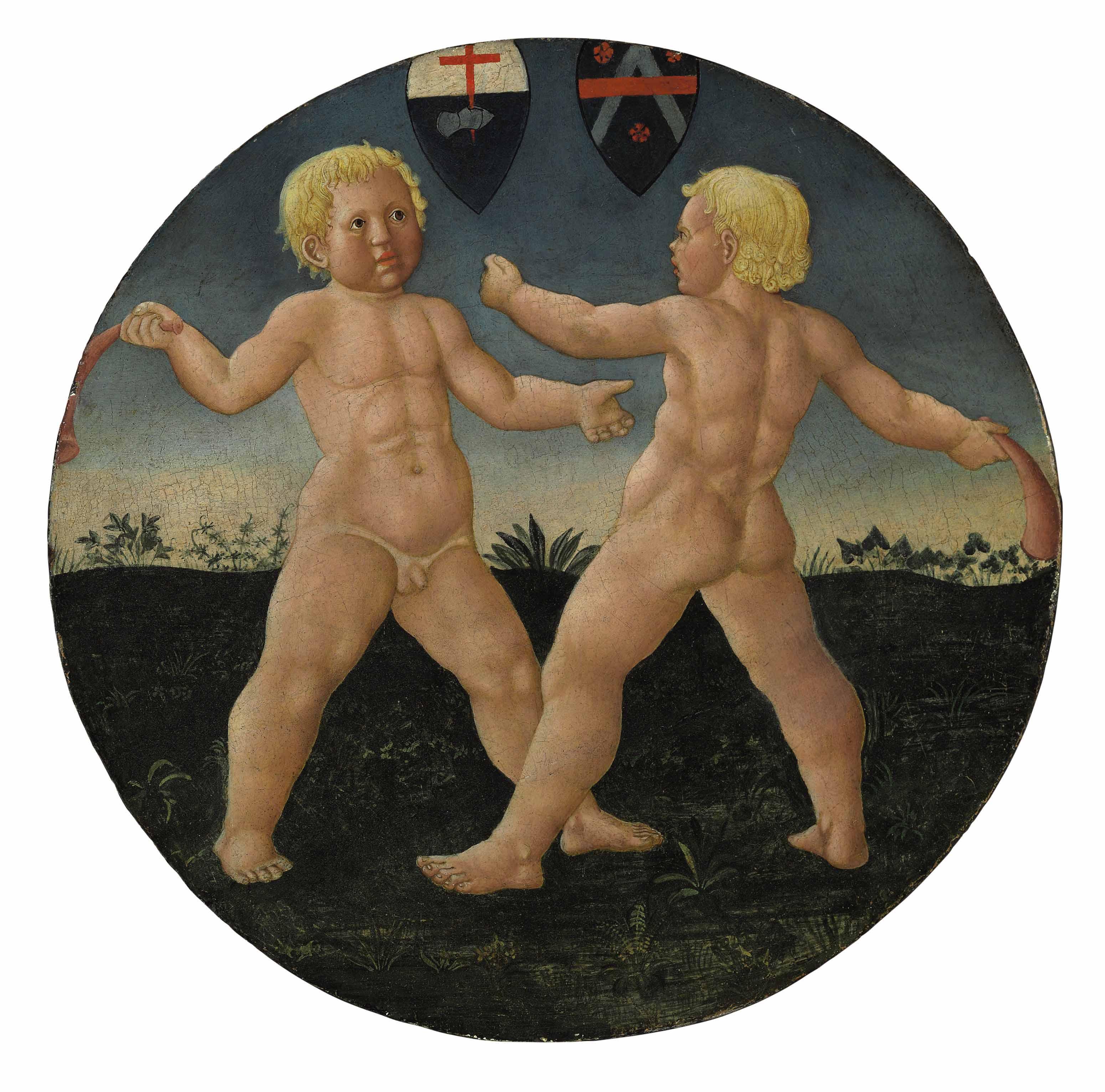 Desco da parto: Two boys at play