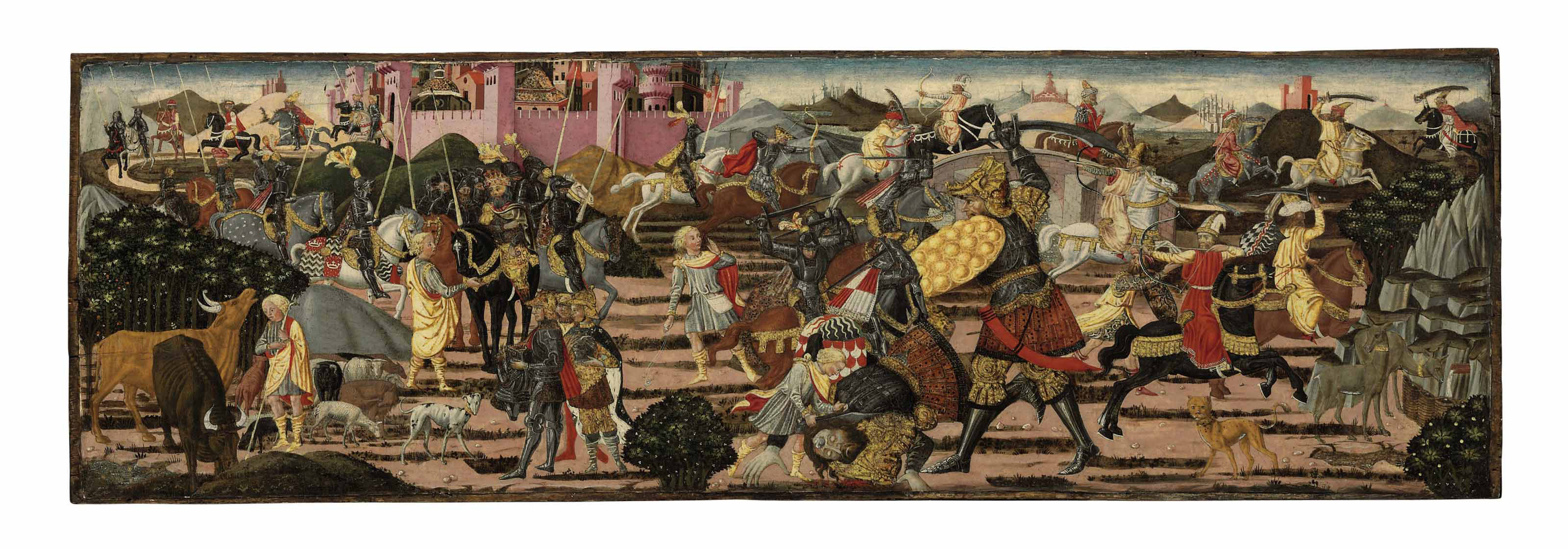 The slaying of Goliath: a cassone front