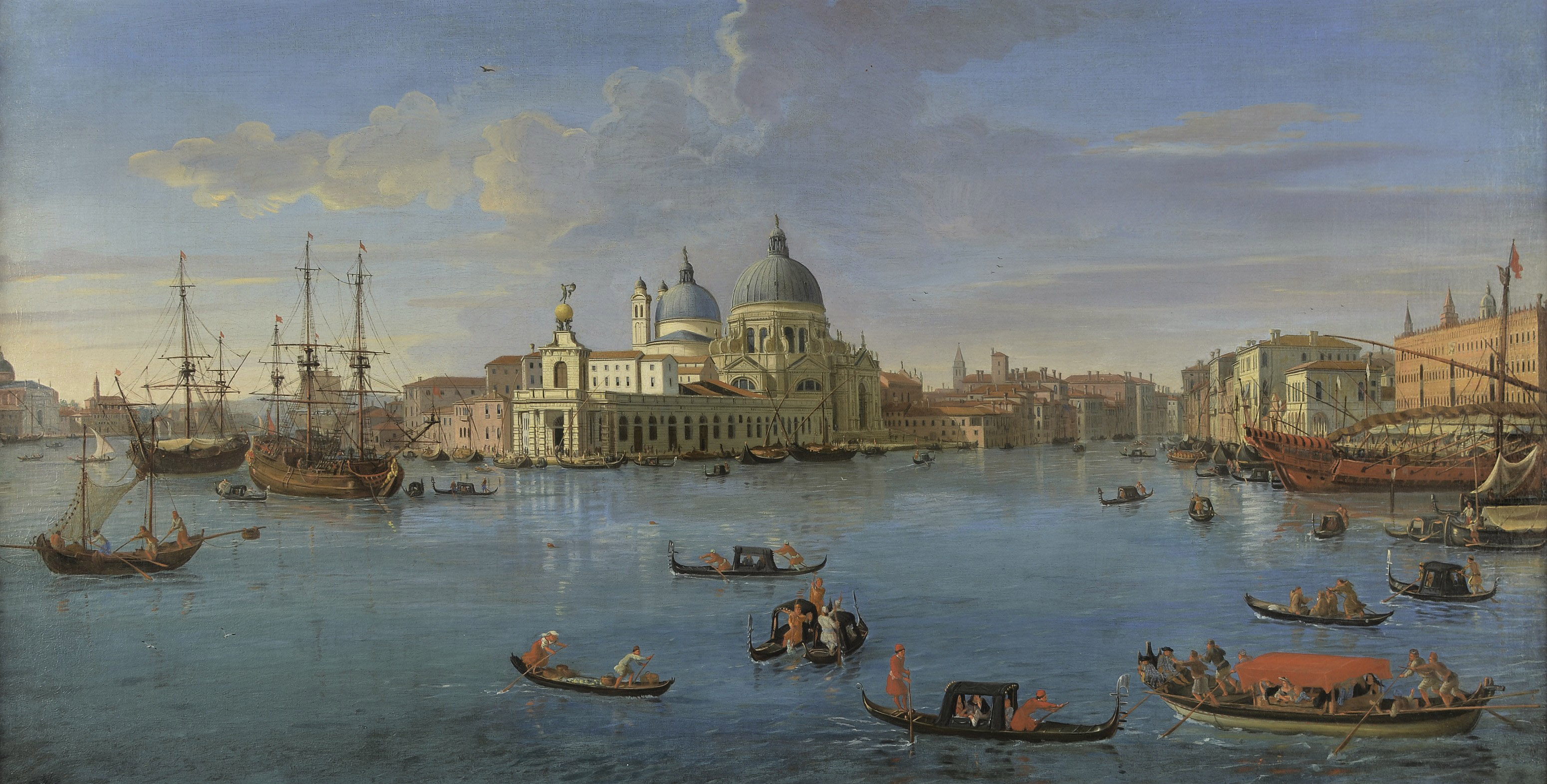 View of the Bacino di San Marco, Venice, from the Grand Canal