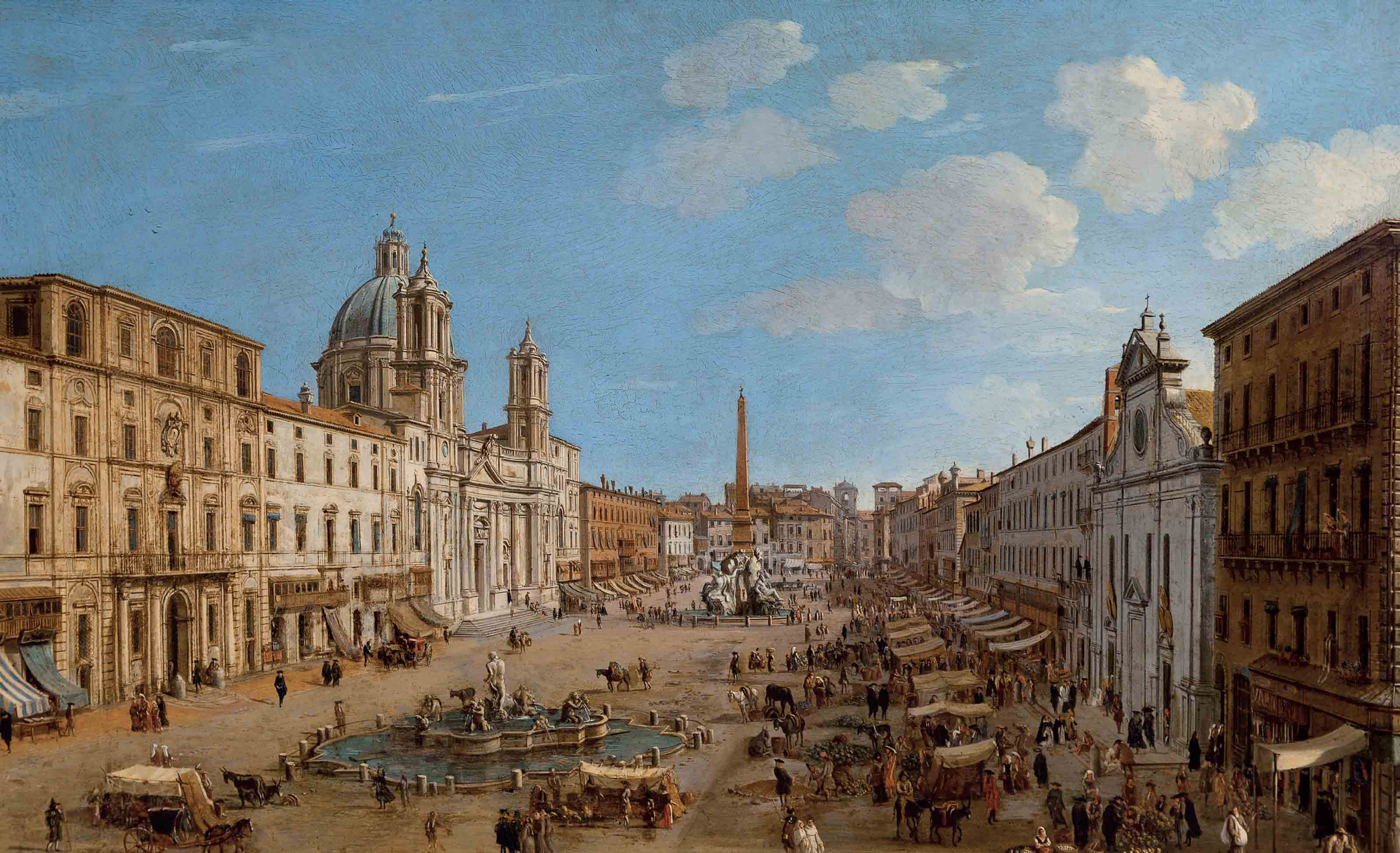 The Piazza Navona, Rome