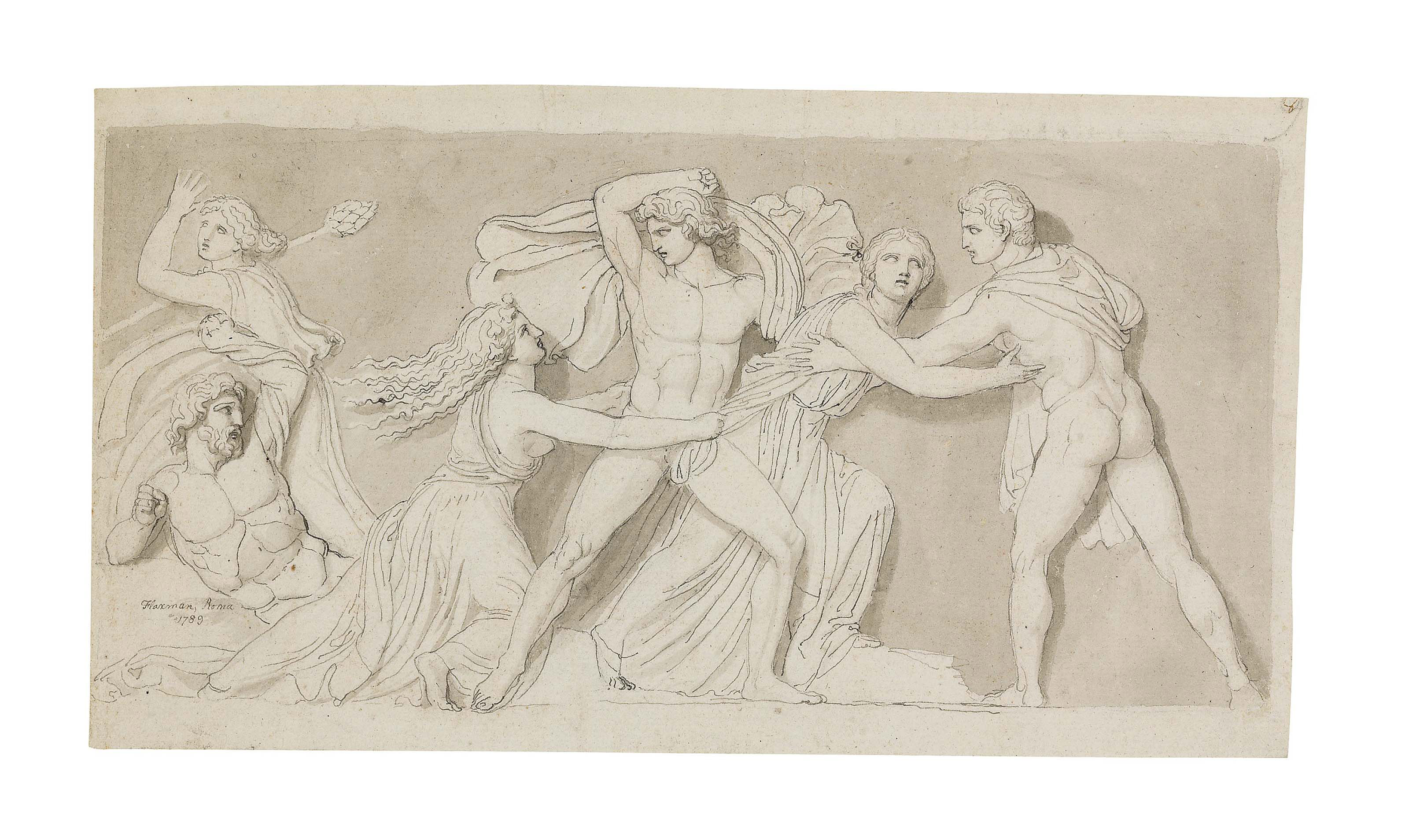 Designs for a classical relief