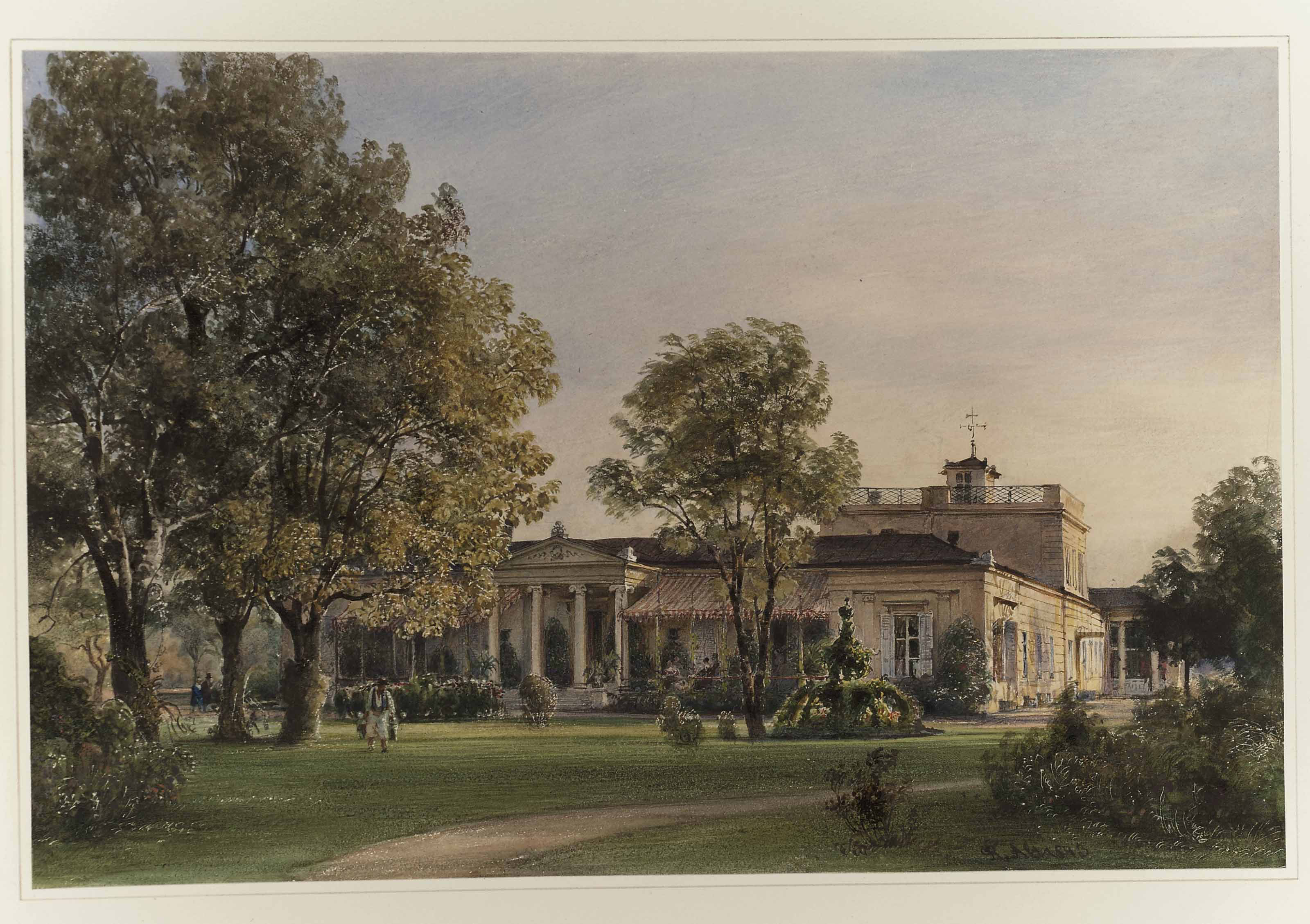 Villa Metternich, Vienna, from the North West