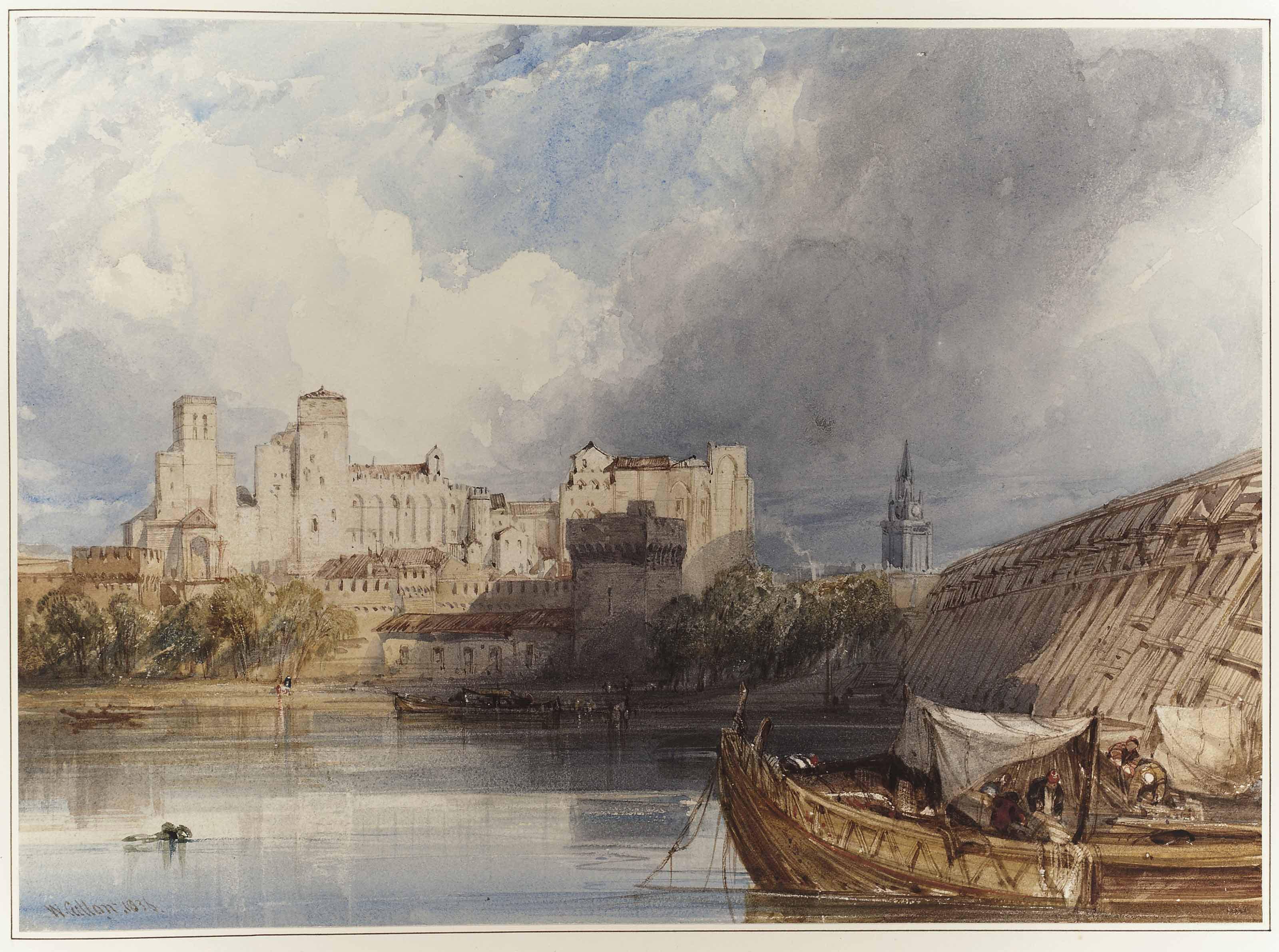 The Papal Palace at Avignon, France