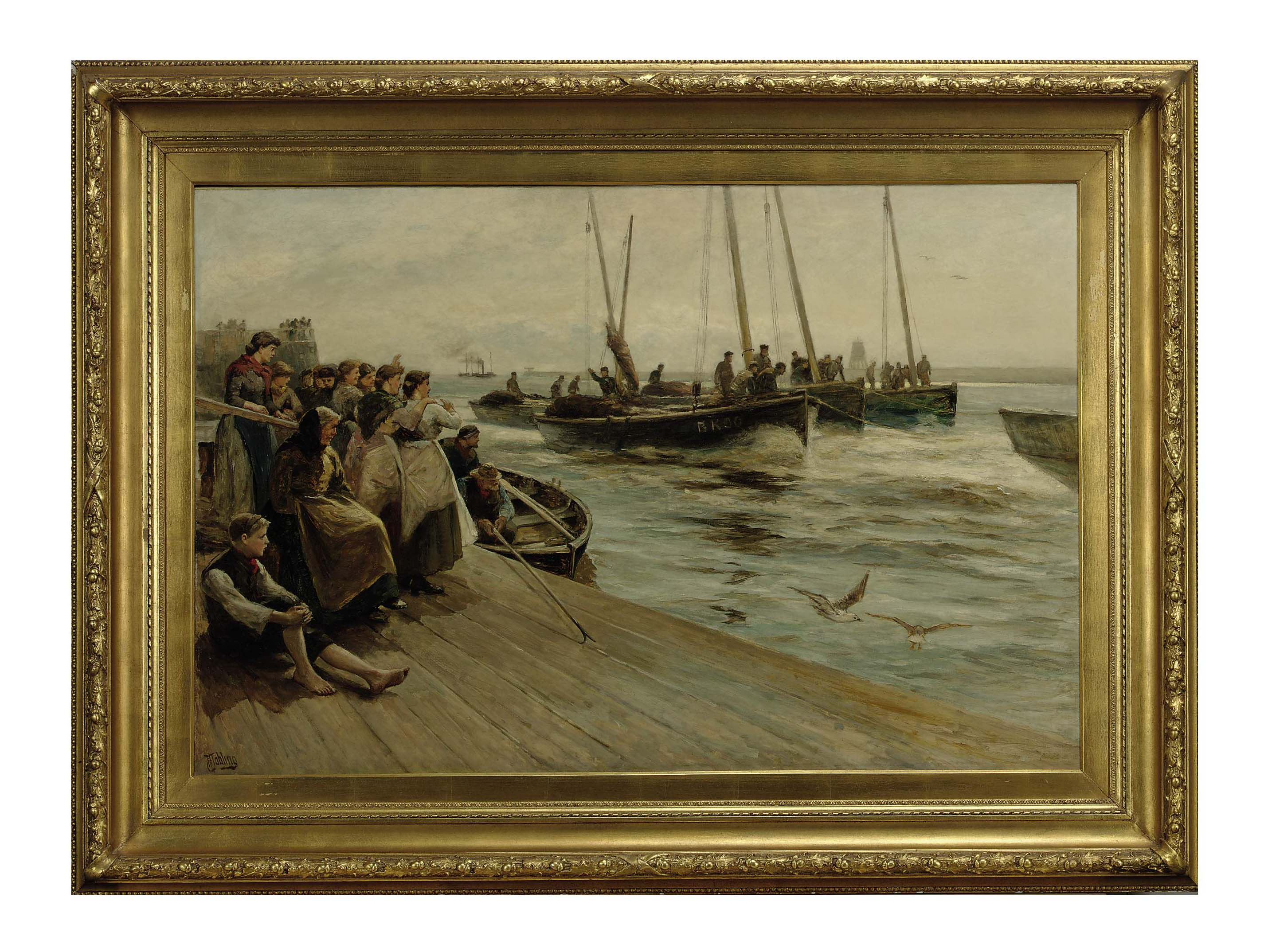 The return of the fishing fleet on the Tyne