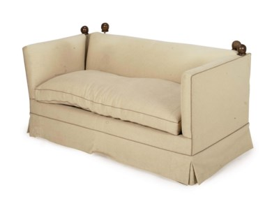 A CONTEMPORARY BEIGE WOOL UPHO