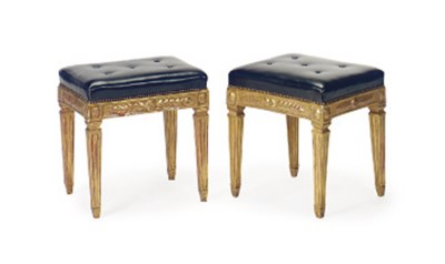 A PAIR OF ITALIAN GILTWOOD STO