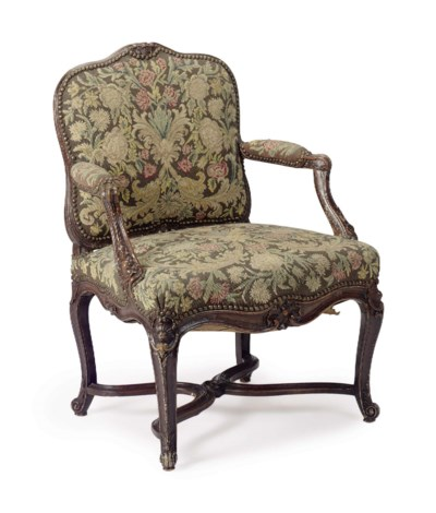 A LOUIS XV FRUITWOOD AND NEEDL