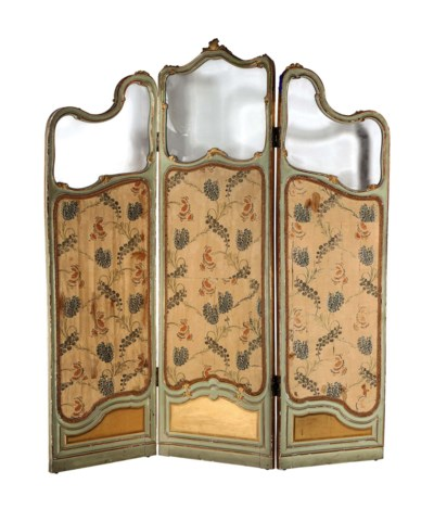 A FRENCH PARCEL-GILT AND GREEN