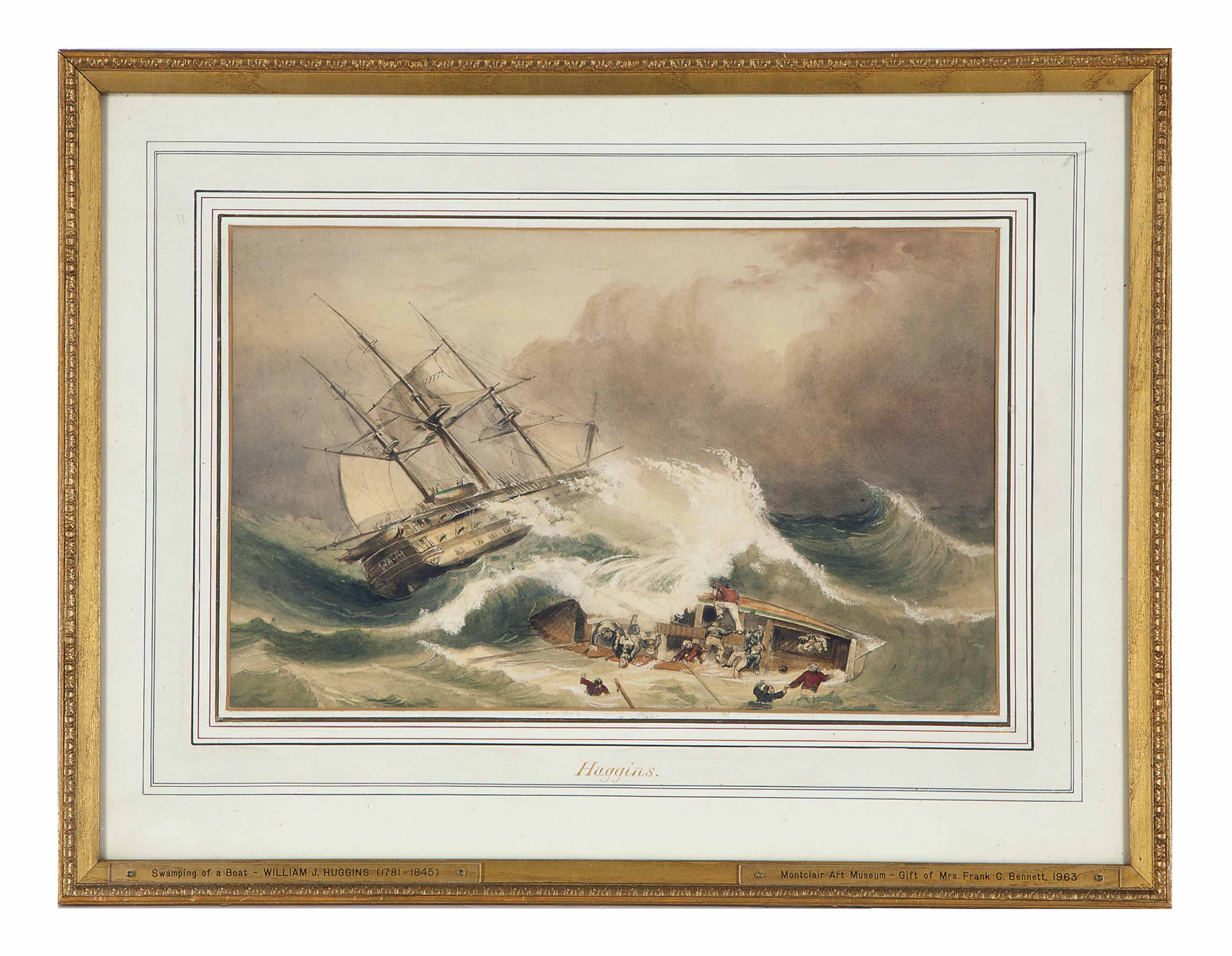Ship wreck in a stormy sea