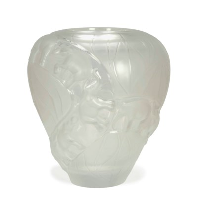 A FRENCH FROSTED GLASS 'BORNEO