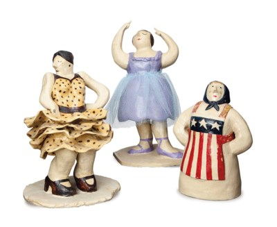 THREE AMERICAN POTTERY MODELS