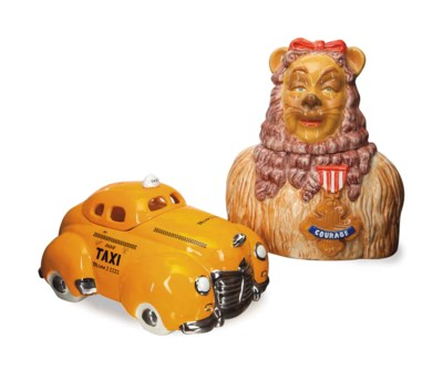 ELEVEN COOKIE JARS AND COVERS,