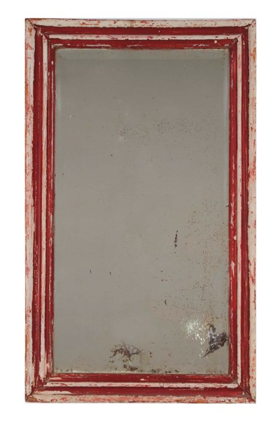 A RED-PAINTED MIRROR,