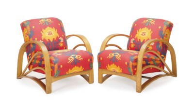 A PAIR OF BENTWOOD AND PATTERN