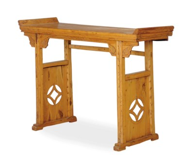 A CHINESE SOFTWOOD ALTAR TABLE
