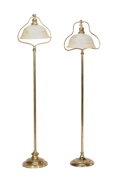 A PAIR OF GILT-BRASS FLOOR LAM