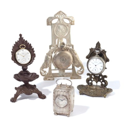 A GROUP OF CLOCKS AND POCKET W
