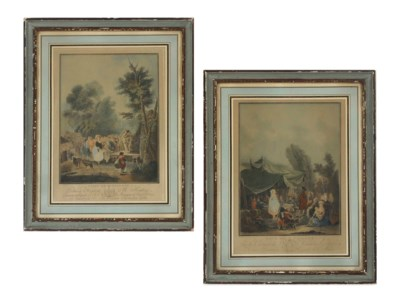 A PAIR OF FRENCH FRAMED COLOR