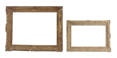 TWO GILTWOOD PICTURE FRAMES,