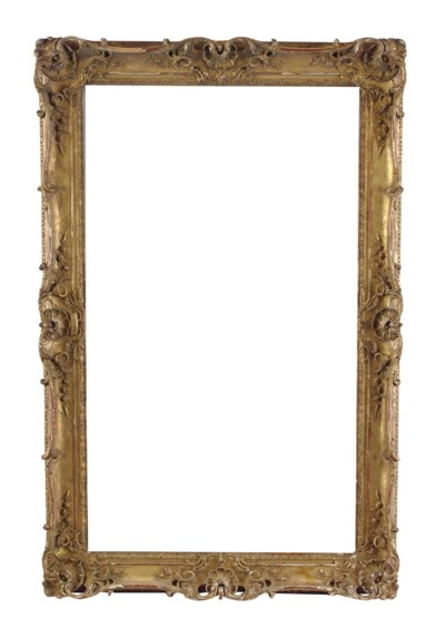 A FRENCH GILTWOOD CARVED AND P