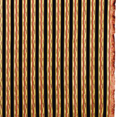 FOUR STRIPED COTTON CURTAIN PA