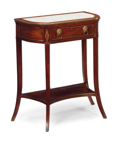 A DIRECTOIRE MARBLE-INSET AND