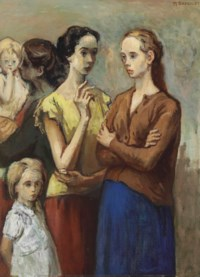 Standing Women and Children