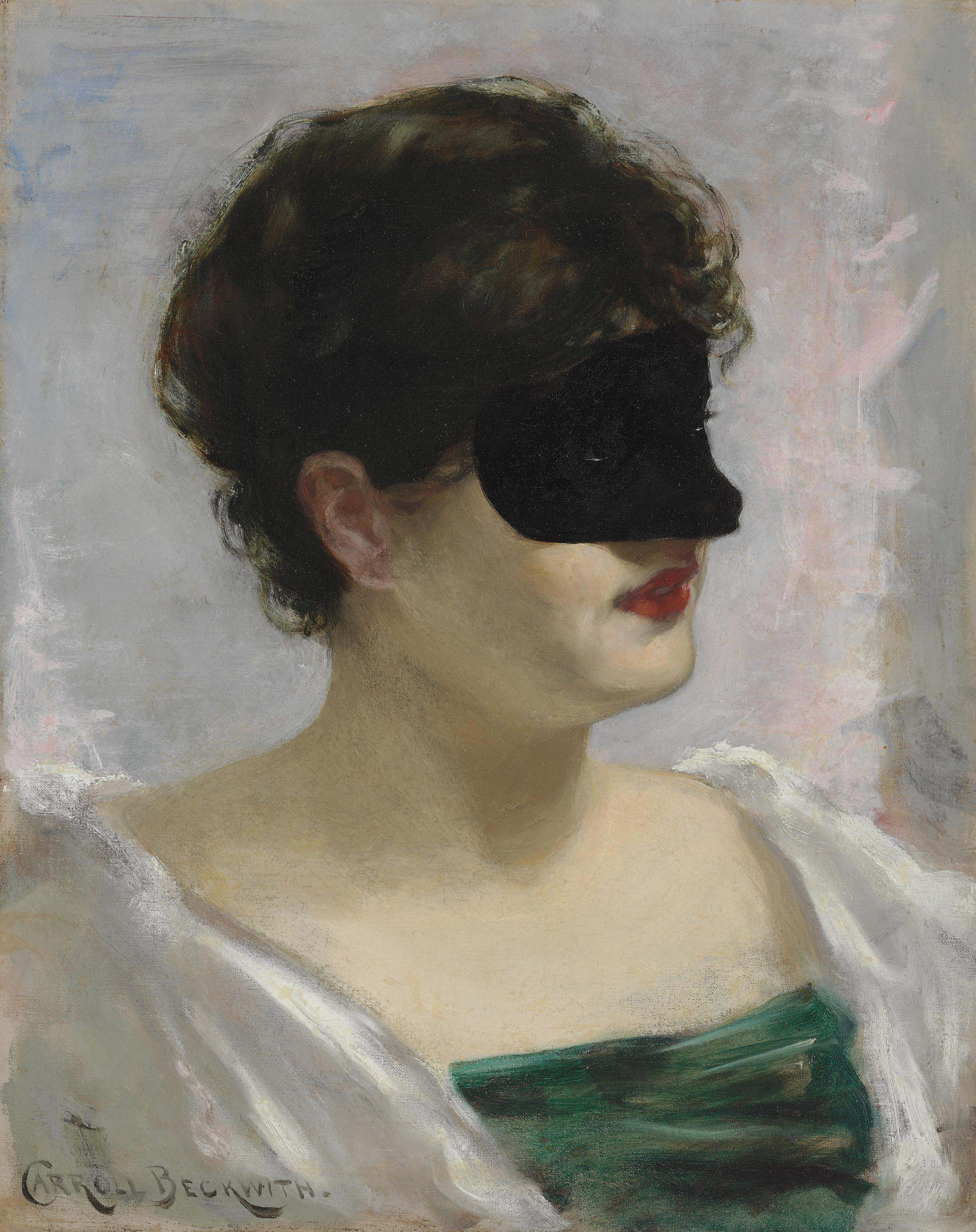 Lady with a Black Mask