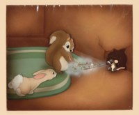 Mouse and Dust from 'Snow White and The Seven Dwarfs'