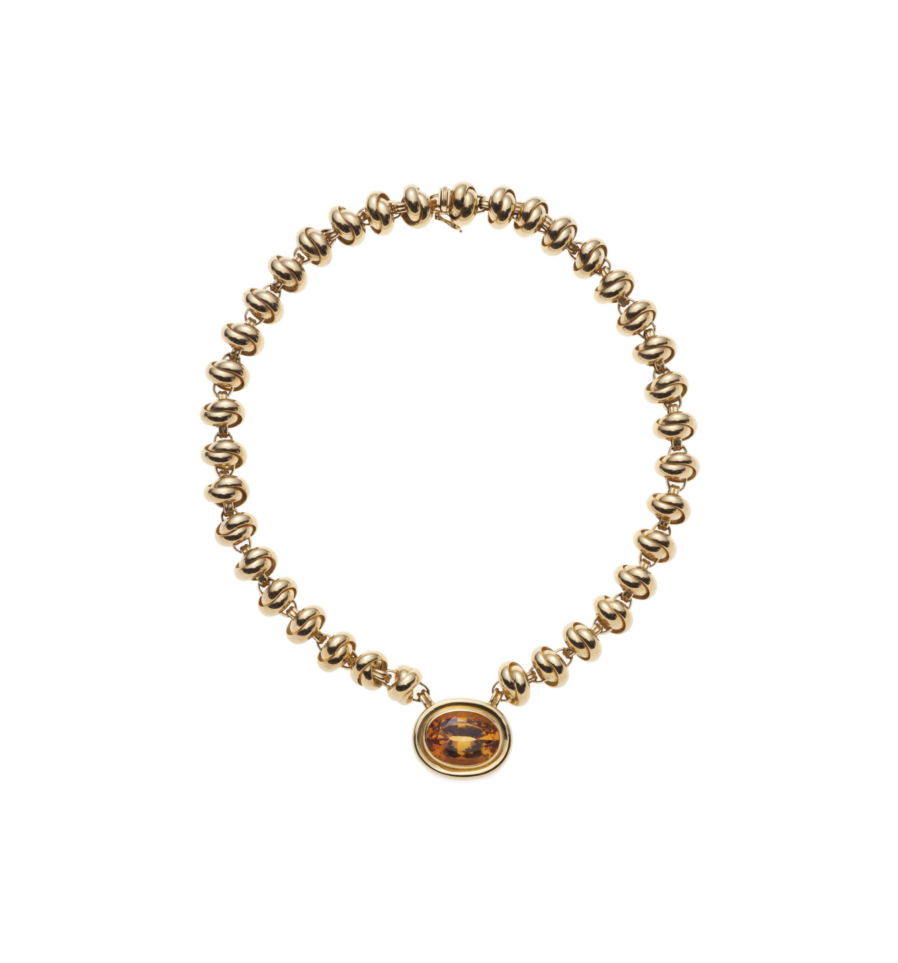 A CITRINE AND GOLD NECKLACE, BY PALOMA PICASSO, TIFFANY & CO.