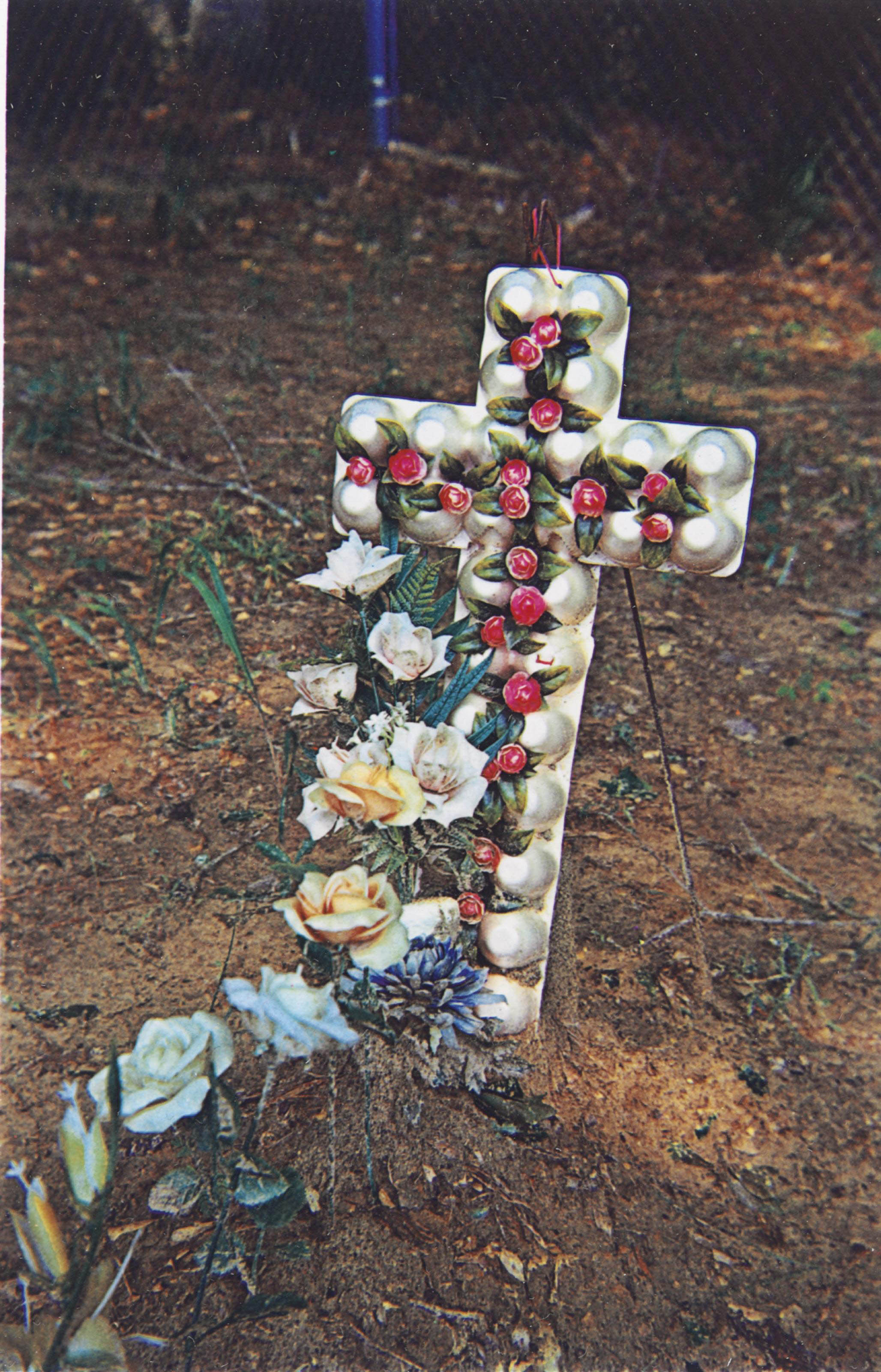 Egg Carton Cross, Hale County, Alabama, 1975