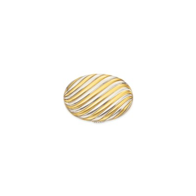A BI-COLORED GOLD COMPACT, BY