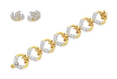 A SET OF DIAMOND AND GOLD JEWE