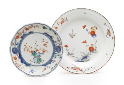 A MEISSEN PORCELAIN PLATE AND