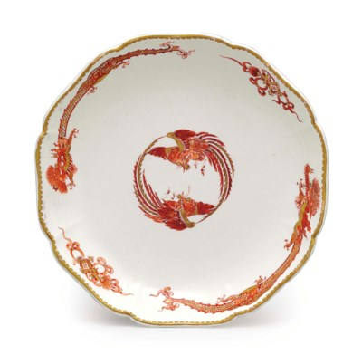 A CHANTILLY PORCELAIN 'RED DRA