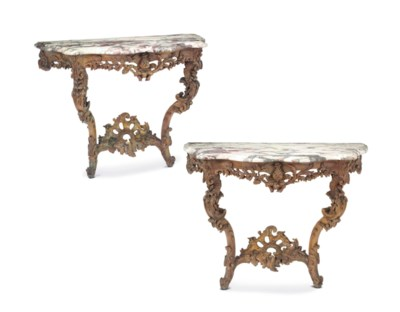A PAIR OF FRENCH FRUITWOOD CON