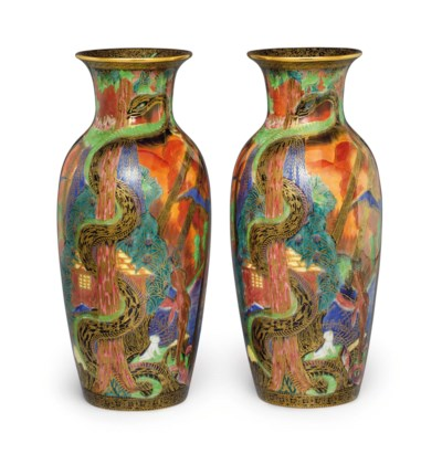 A PAIR OF WEDGWOOD PORCELAIN F
