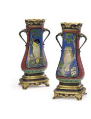A PAIR OF FRENCH PARCEL-GILT,