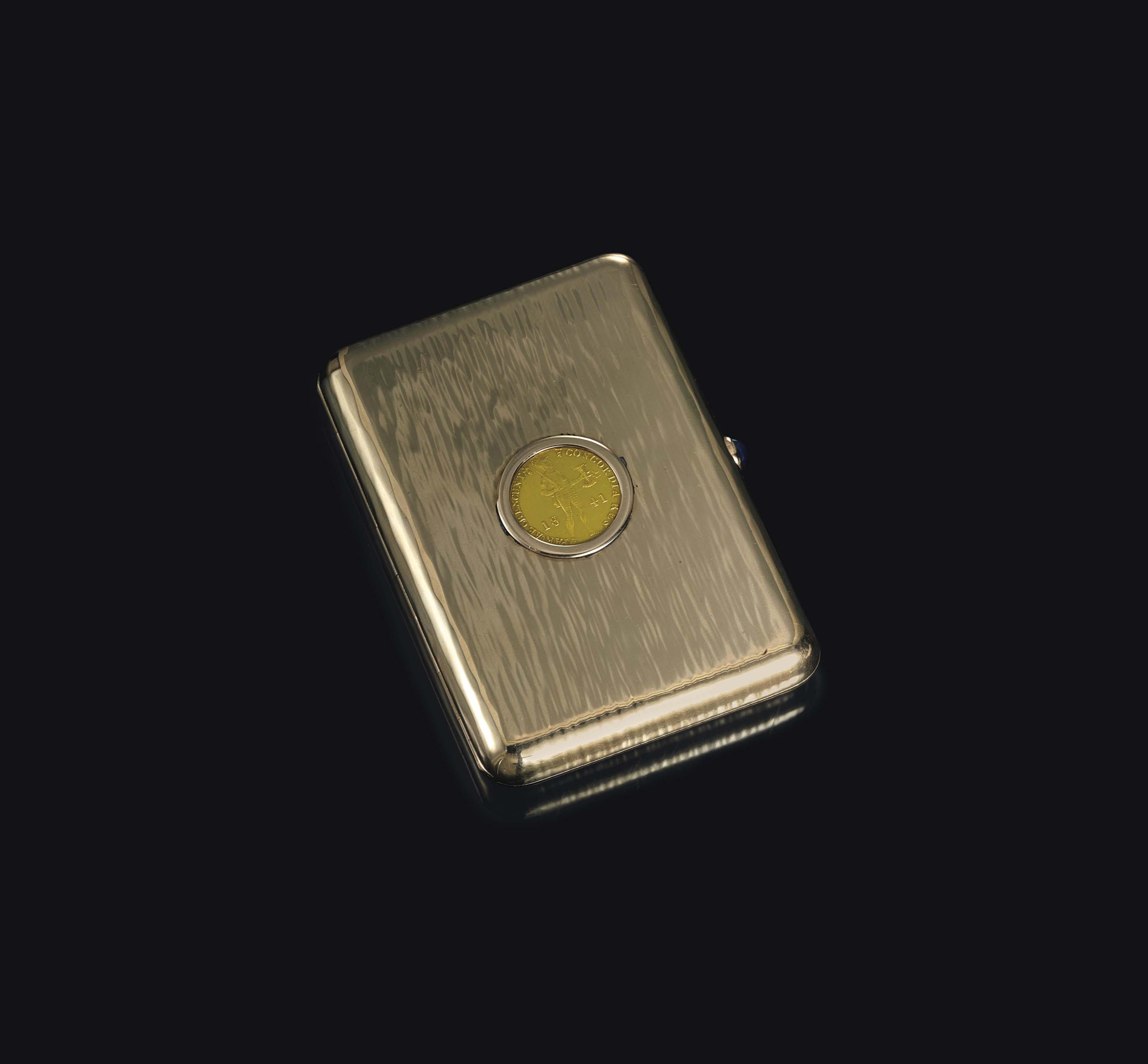 A GOLD CIGARETTE CASE