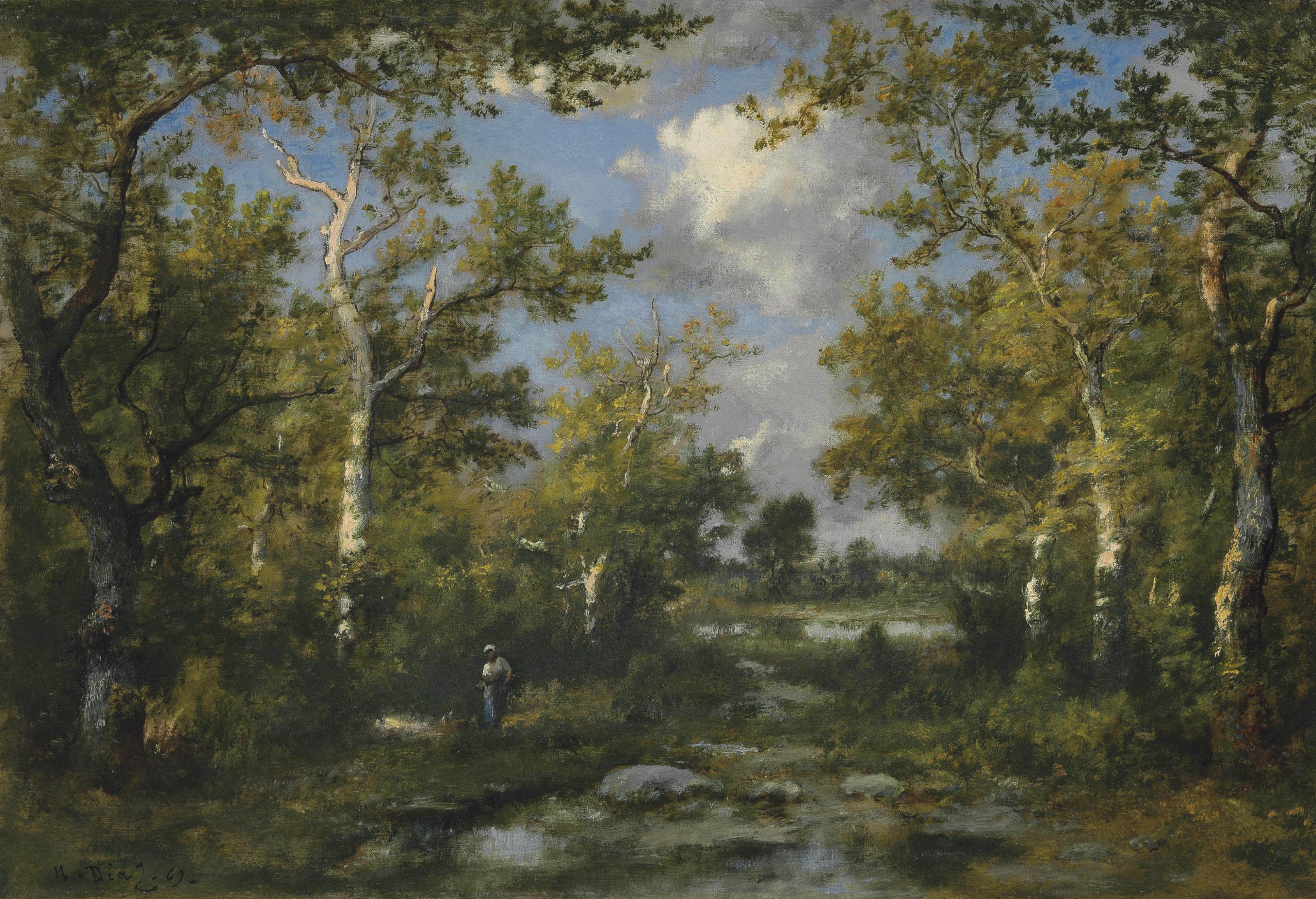 Clairière dans la forêt de Fontainbleau