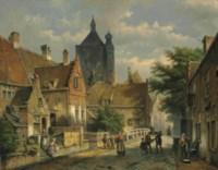 Villagers on a Sunlit Dutch Street