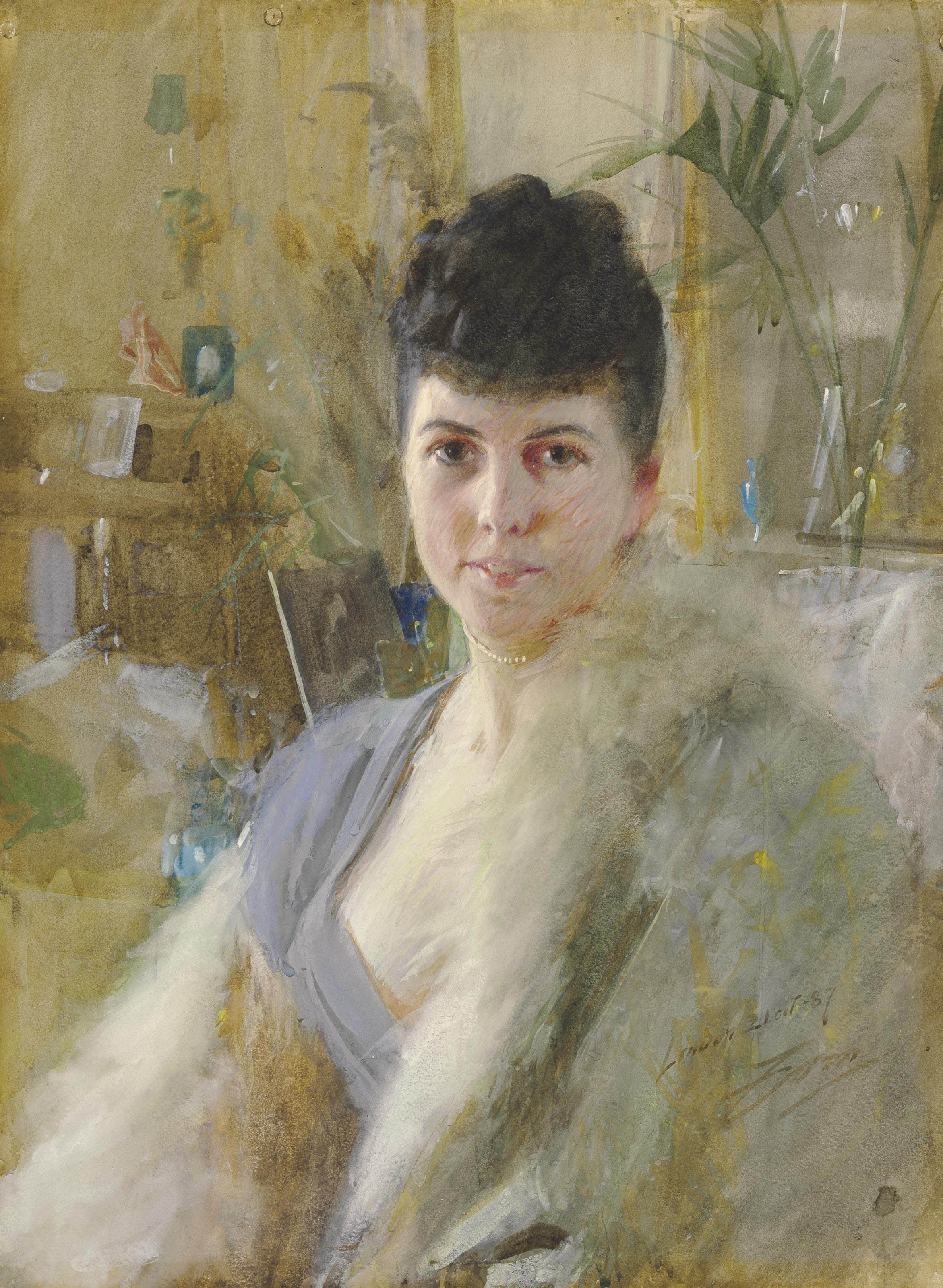 Portrait of a Lady in a Drawing Room