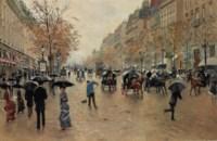Boulevard Poissonnière en automne
