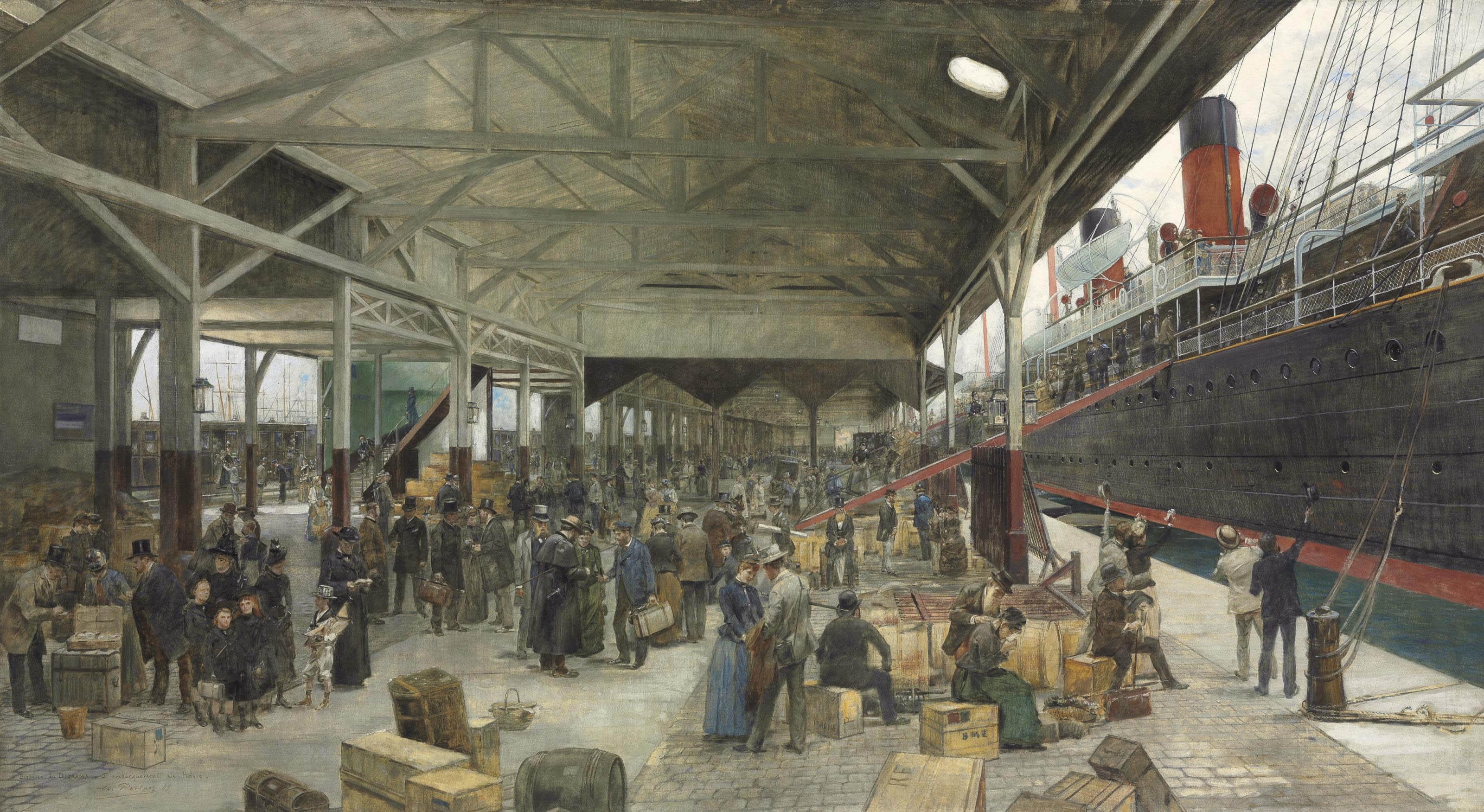 L'embarquement de La Normandie au Havre