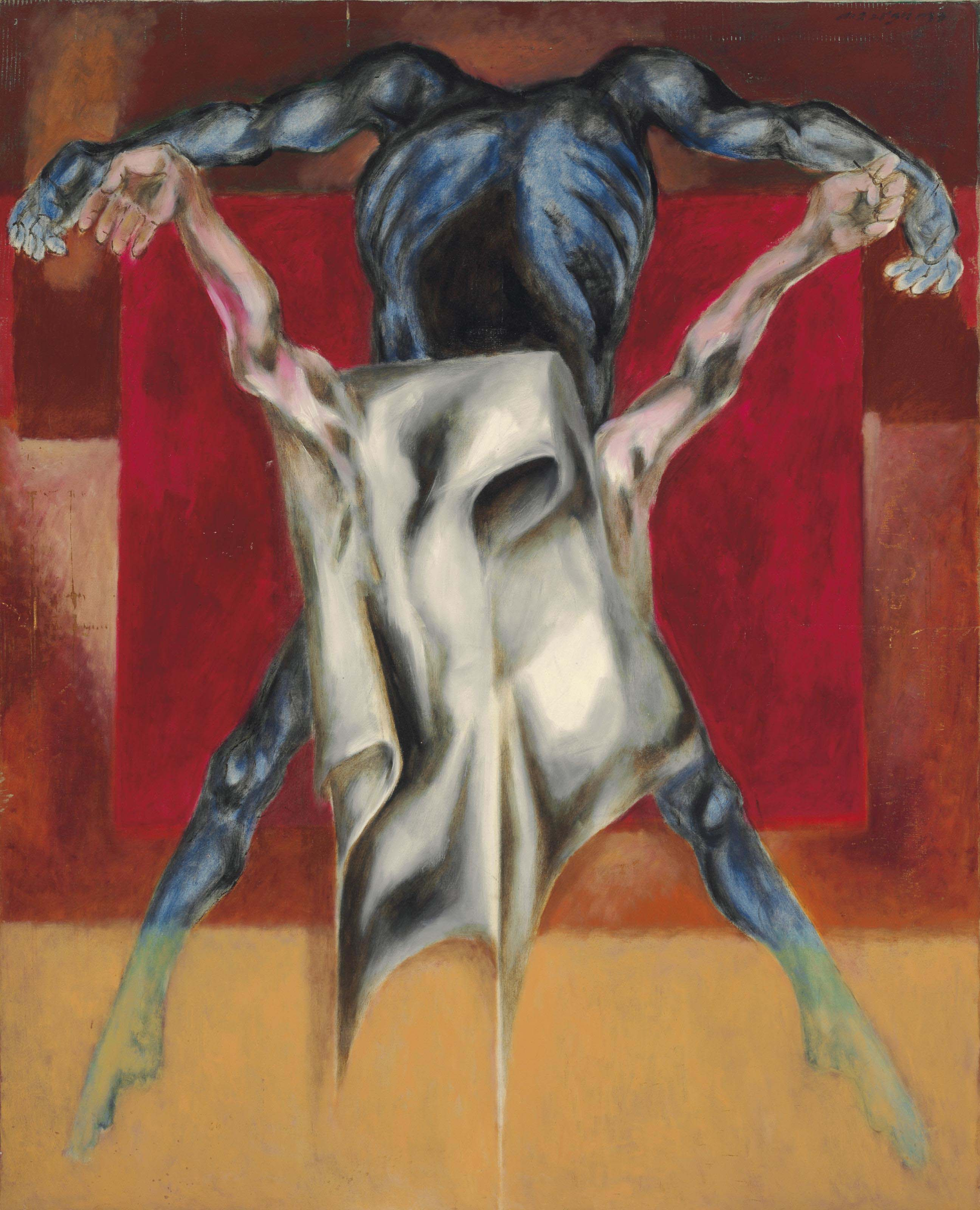 Untitled (Crucifixion); Untitled (after Crucifixion of Mathias Grünewald)