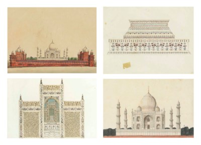Four Paintings of the Taj Maha