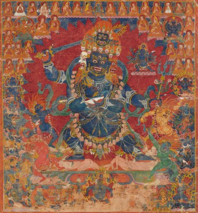 A thangka of Chaturmukha Mahak