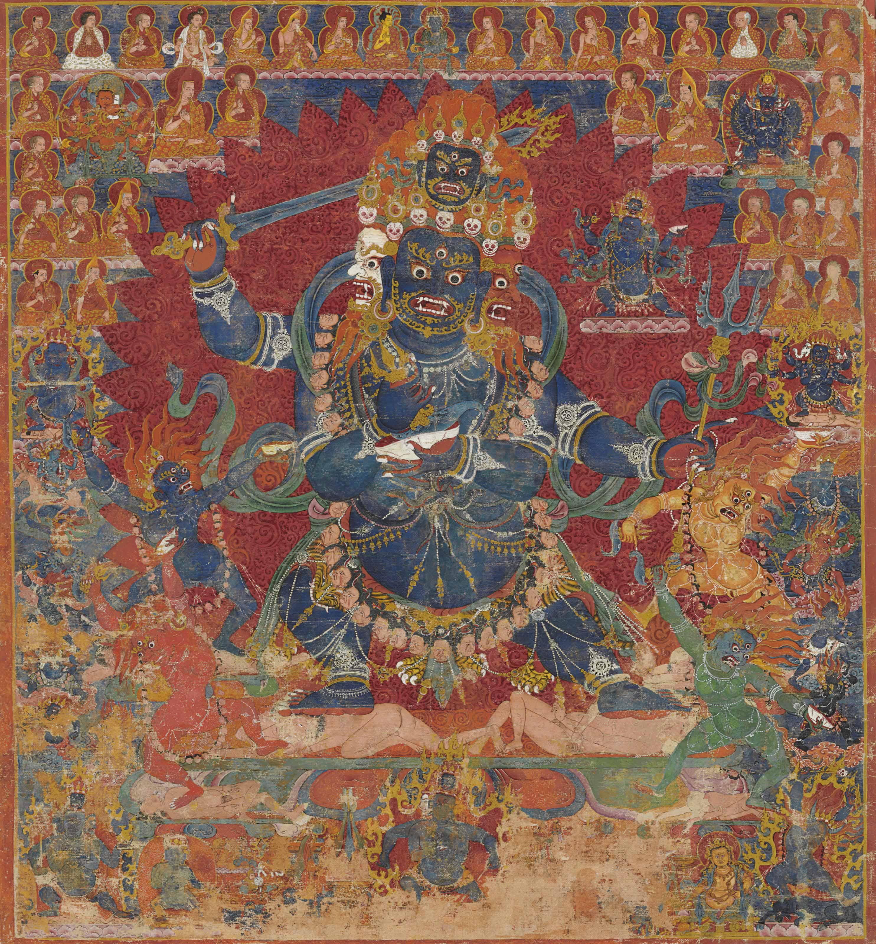 A thangka of Chaturmukha Mahakala